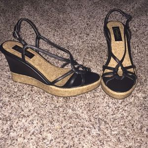 Candie's Shoes - 💕CANDIE'S black wedges💋